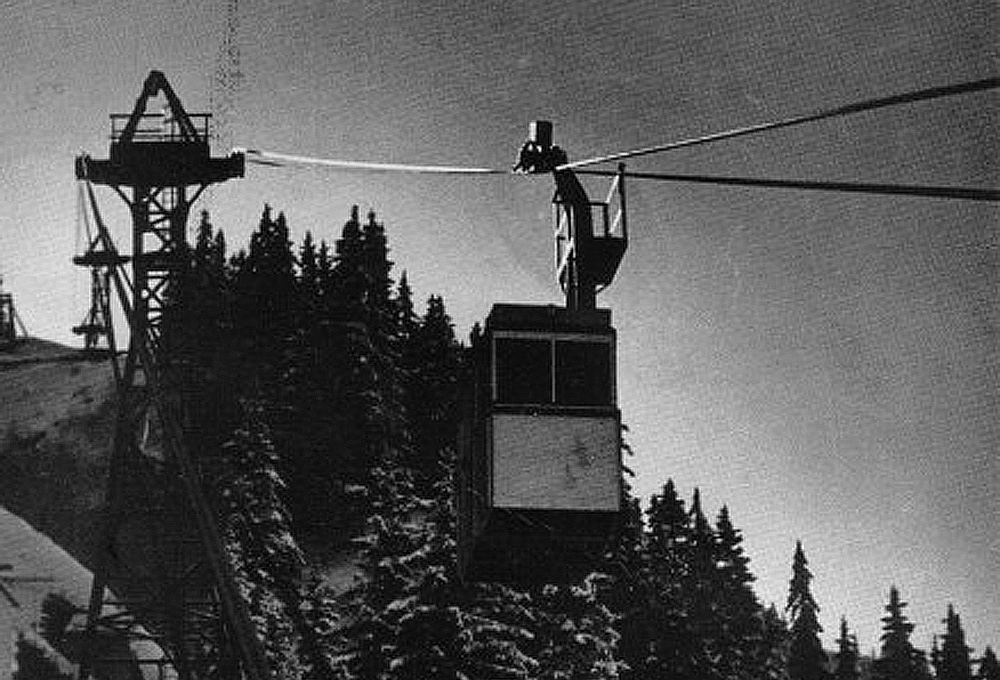 1934 metallic cabin heckel cable car
