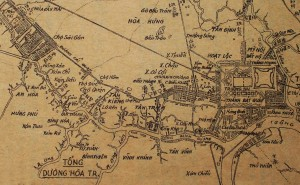 Saigon map early colonial 2