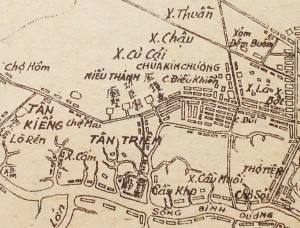 Saigon map early colonial 4