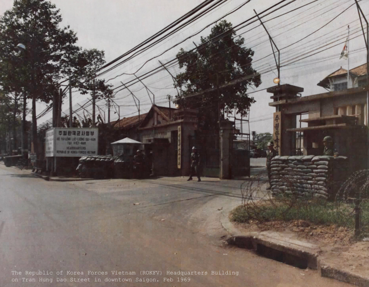 The Republic of Korea Forces Vietnam (ROKFV) Headquarters. Feb 1969