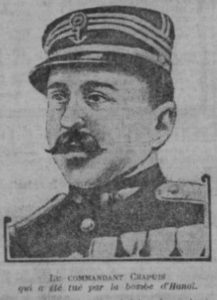 Commandant Chapuis, one of the two French officers killed in the bombing of  26 April 1913