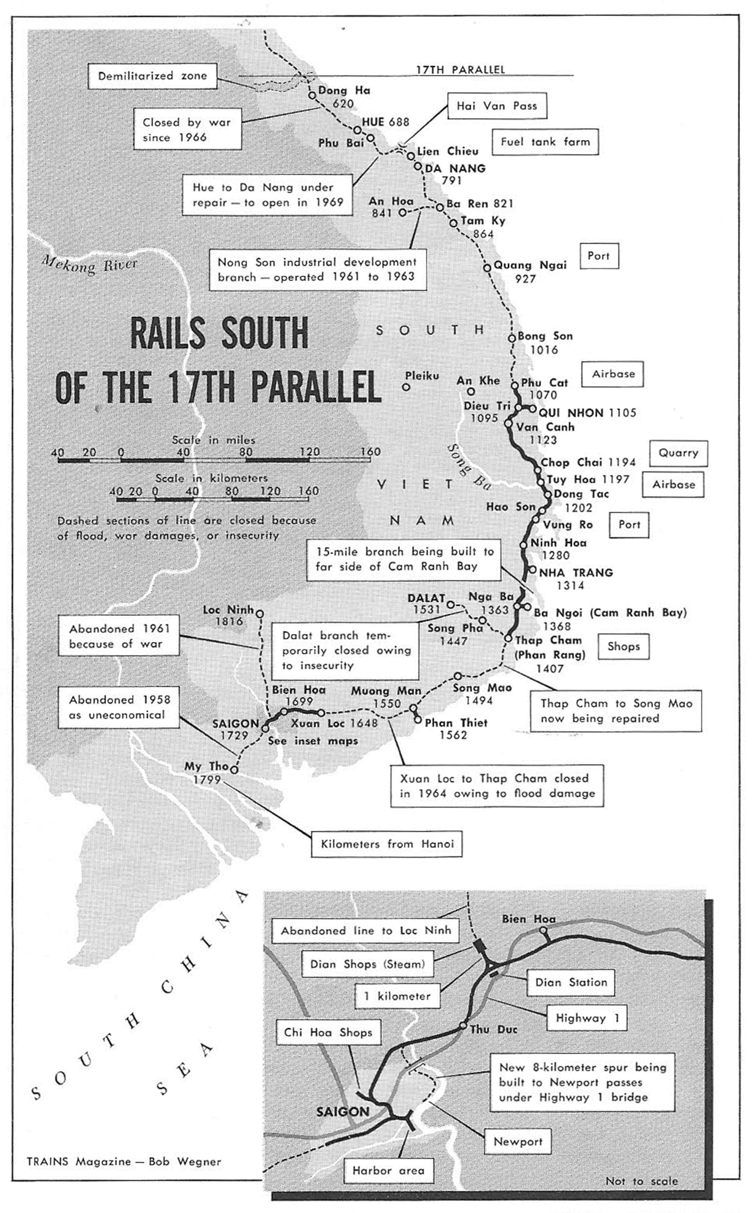 Historic Vietnam Tim Dolings Heritage Portal Renault Remote Starter Diagram By The End Of 1964 More Damage Had Been Inflicted On South Vietnamese Railway System In A Two Month Period That 15 Years World War Ii And